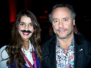 Esha Abrol (who  participated in raising funds for men's health, Movember this year) and  Canadian entrepreneur/philanthropist/former Dragon, Brett Wilson