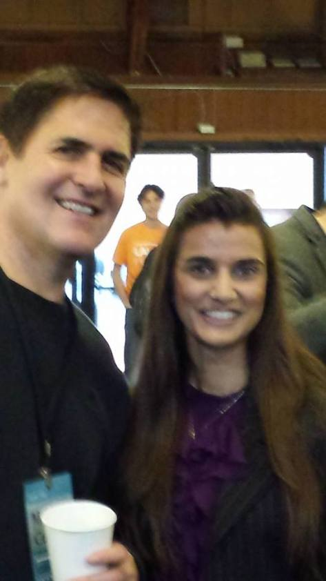 Esha Abrol and Mark Cuban
