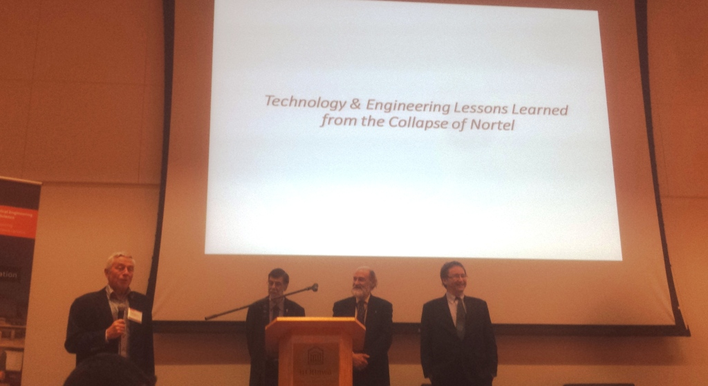 Left to Right: Mr. Peter Chapman, Distinguished Professor Hussein Mouftah, Mr. Peter MacKinnon, Professor Jonathon Calof