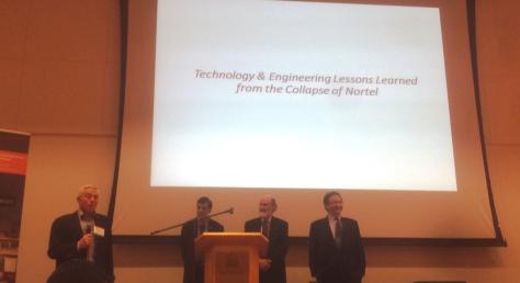 Left to Right: Mr. Peter Chapman, Distinguished Professor Hussein Mouftah, Mr. Peter MacKinnon, Professor Jonathon Calof